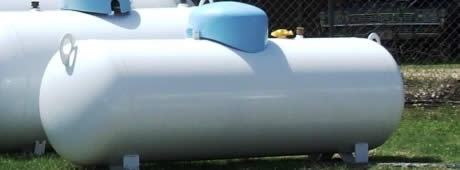 150 gallon propane tank ready for installation