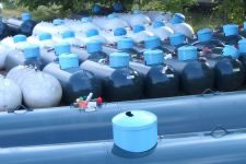 Propane tanks on the Mission Gas yard